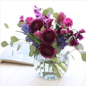 青山フラワーマーケット定期便Mコースのお花