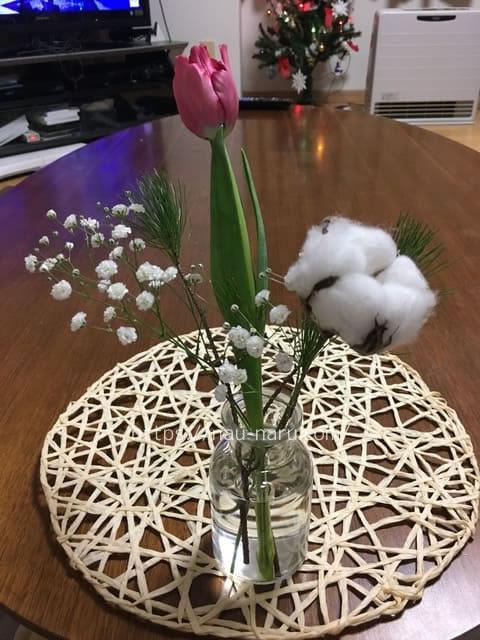 ブルーミー体験プランのお花を飾ってみた