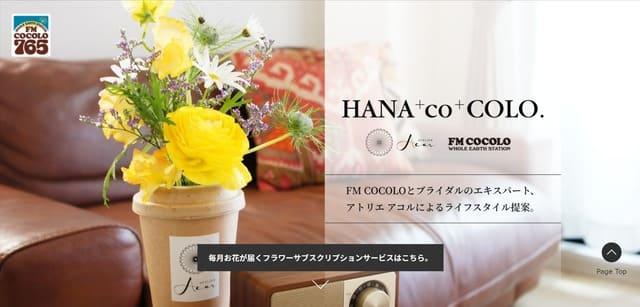 ハナココロの公式サイト画像