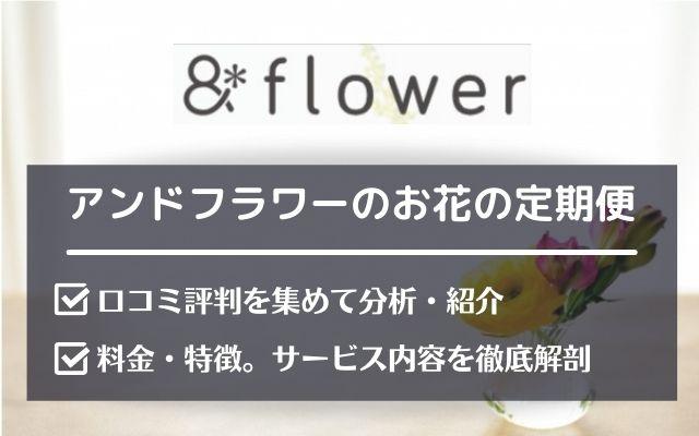 アンドフラワー(&flower)の口コミ評判とサービス内容を詳しく紹介