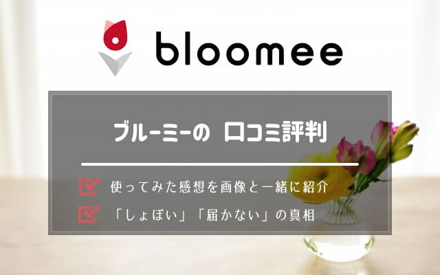 ブルーミーライフ(Bloomee Life)の口コミ評判から解約方法まで
