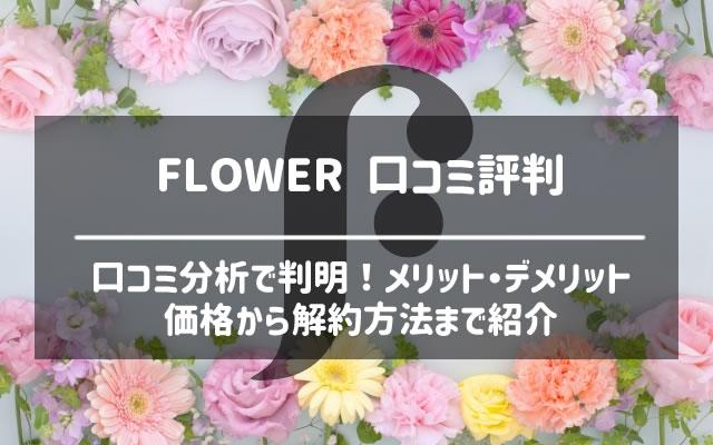 FLOWER(フラワー)の口コミ評判から解約方法まで
