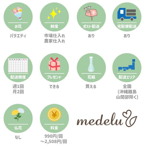 メデル(medelu)の特徴一覧図