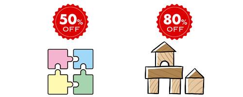 キッズラボラトリー50%~80%割引でおもちゃを買取りできる