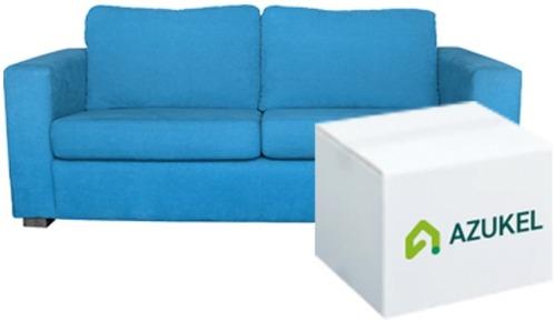 AZUKEL(アズケル)のダンボール箱とソファ