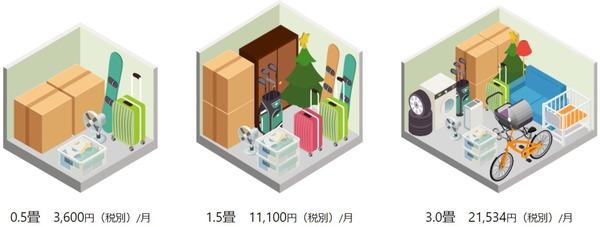 AZUKEL(アズケル)のスペースプランの広さと収納例