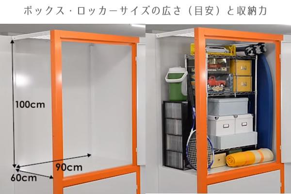 ボックス・ロッカーサイズのトランクルームの広さと収納力